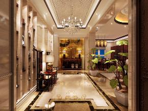 海珀精华 别墅装修 美式风格 腾龙设计 玄关图片来自腾龙设计在海珀精华别墅装修简美风格的分享