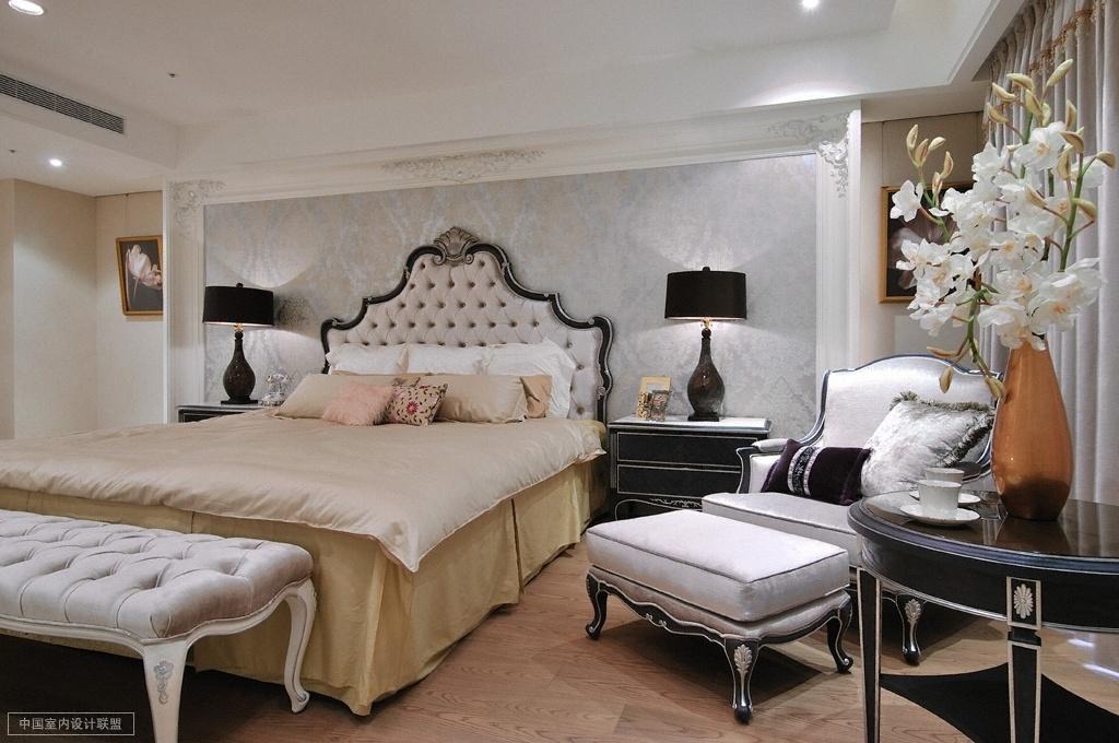 财富海景 装修设计 欧式古典 腾龙设计 卧室图片来自孔继民在财富海景大宅项目完工实景的分享