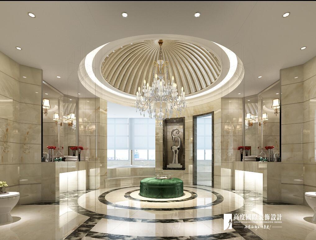 欧式 别墅 跃层 复式 大户型 80后 卫生间图片来自高度国际姚吉智在恒大丽宫别墅1400平米奢华欧式的分享