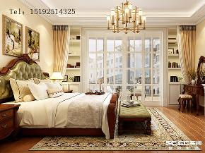 美式 骊山国际 别墅 卧室图片来自实创装饰小彩在骊山国际美式装修,400平别墅的分享