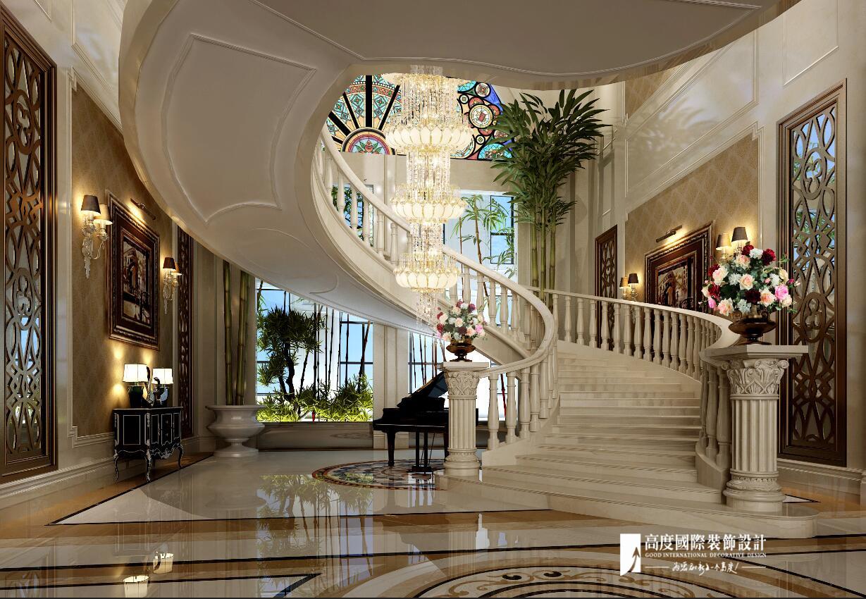 欧式别墅跃层复式大户型80后楼梯图片