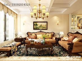 美式 骊山国际 别墅 客厅图片来自实创装饰小彩在骊山国际美式装修,400平别墅的分享