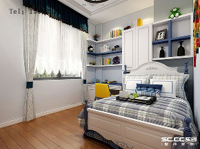 美式 骊山国际 别墅 儿童房图片来自实创装饰小彩在骊山国际美式装修,400平别墅的分享