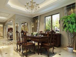 红松林赞成 别墅装修 欧式风格 腾龙设计 餐厅图片来自腾龙设计在440平别墅欧式古典风格设计的分享
