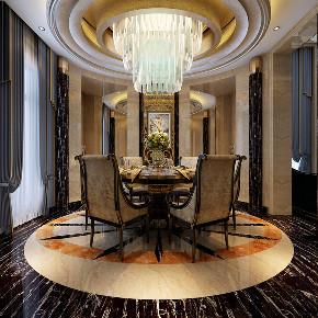 恒大威尼斯 海上威尼斯 别墅装修 欧式古典 腾龙设计 餐厅图片来自腾龙设计在恒大海上威尼斯别墅新古典风格的分享