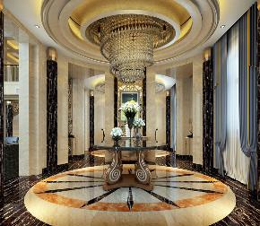 恒大威尼斯 海上威尼斯 别墅装修 欧式古典 腾龙设计 玄关图片来自腾龙设计在恒大海上威尼斯别墅新古典风格的分享
