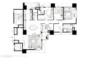 小资 旧房改造 收纳 白领 新古典 大理石 户型图图片来自幸福空间在172平,缔造时尚典雅气质居!的分享