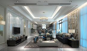 御园别墅 别墅装修 新古典风格 腾龙设计 客厅图片来自周峻在550平别墅项目装修新古典风格的分享