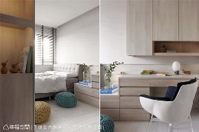 现代风格 现代简约 小资 80后 收纳 白领 三居 儿童房图片来自幸福空间在116平,动线四通八达活络空间的分享