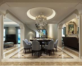 长泰西郊 别墅装修 欧式古典 腾龙设计 餐厅图片来自腾龙设计在长泰西郊430平别墅新古典欧式的分享