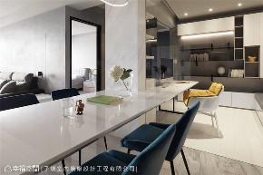 现代风格 现代简约 小资 80后 收纳 白领 三居 餐厅图片来自幸福空间在116平,动线四通八达活络空间的分享