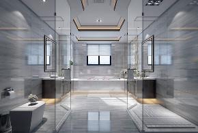 别墅装修 中式风格 腾龙设计 卫生间图片来自周峻在中式风格别墅设计案例展示的分享