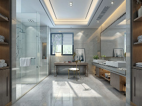 国宾一号 别墅装修 现代风格 腾龙设计 卫生间图片来自周峻在国宾一号别墅项目装修现代风格的分享