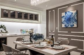 小资 旧房改造 收纳 白领 新古典 大理石 餐厅图片来自幸福空间在172平,缔造时尚典雅气质居!的分享