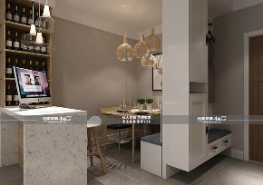 现代 二居 餐厅图片来自百家装饰LL在碧桂园学府一号 79平现代风格的分享