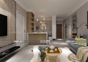 现代 二居 客厅图片来自百家装饰LL在碧桂园学府一号 79平现代风格的分享