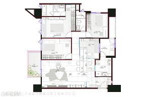 现代风格 现代简约 小资 80后 收纳 白领 三居 户型图图片来自幸福空间在116平,动线四通八达活络空间的分享