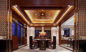 东郊半岛 别墅装修 中式风格 腾龙设计 餐厅图片来自腾龙设计在东郊半岛别墅装修中式风格设计的分享