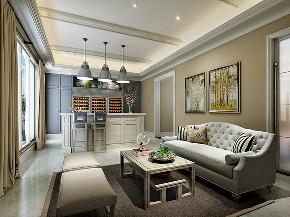 红醍半岛 别墅装修 现代风格 腾龙设计 客厅图片来自周峻在450平联排别墅现代风格设计方案的分享