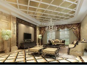苏州桃花源 别墅装修 简欧风格 腾龙设计 客厅图片来自周峻在苏州桃花源630平别墅项目装修的分享