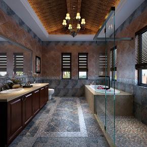长泰西郊 别墅装修 美式风格 腾龙设计 卫生间图片来自腾龙设计在长泰西郊350平别墅美式风格设计的分享