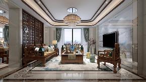 别墅装修 中式风格 腾龙设计 客厅图片来自周峻在中式风格别墅设计案例展示的分享