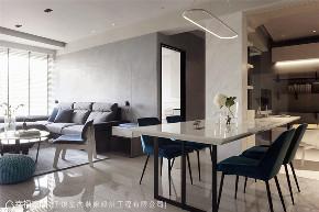 现代风格 现代简约 小资 80后 收纳 白领 三居 客厅图片来自幸福空间在116平,动线四通八达活络空间的分享
