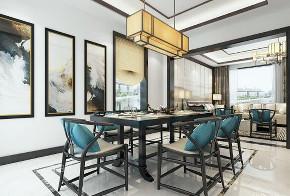 三盛国际 青岛装修 实创装饰 180平装修 餐厅图片来自实创装饰集团青岛公司在三盛国际180平联排别墅装修的分享