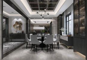 别墅装修 新中式风格 腾龙设计 餐厅图片来自周峻在别墅装修新中式风格设计的分享