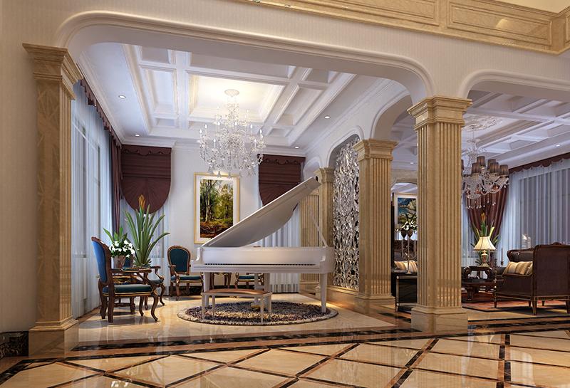 高尔夫别墅 别墅装修 欧式风格 腾龙设计 客厅图片来自孔继民在高尔夫别墅项目装修设计案例的分享