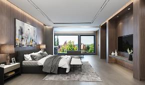 湖畔佳苑 别墅装修 现代风格 腾龙设计 卧室图片来自腾龙设计在湖畔佳苑别墅项目装修现代风格的分享