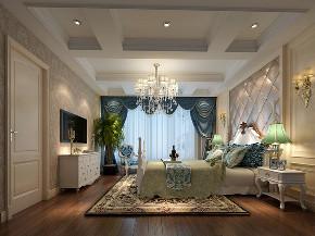 华润中央公 别墅装修 欧式风格 腾龙设计 卧室图片来自腾龙设计在华润置地中央公园别墅欧式风格的分享