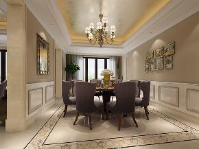 古北大公馆 别墅装修 欧式古典 腾龙设计 餐厅图片来自周峻在600平别墅项目新古典风格设计的分享
