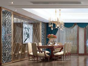 玲珑湾 别墅装修 现代风格 腾龙设计 餐厅图片来自周峻在200平大平层项目装修新中式设计的分享