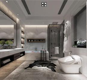 别墅装修 新中式风格 腾龙设计 卫生间图片来自周峻在别墅装修新中式风格设计的分享