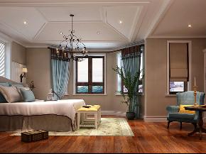 湖山在望 别墅装修 美式风格 腾龙设计 卧室图片来自腾龙设计在湖山在望540平别墅装修美式风格的分享