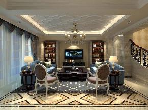 金爵别墅 别墅装修 欧式古典 腾龙设计 客厅图片来自周峻在别墅装修欧式古典风格设计的分享