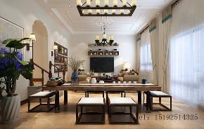 青岛 实创 玫瑰庭院 美式 客厅图片来自实创装饰小彩在玫瑰庭院别墅260平的分享