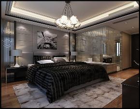 华润置地 橡树湾 别墅装修 现代风格 卧室图片来自腾龙设计在华润置地橡树湾别墅现代风格设计的分享