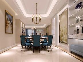 九龙仓 别墅装修 欧式风格 腾龙设计 餐厅图片来自周峻在九龙仓别墅项目装修设计案例展示的分享