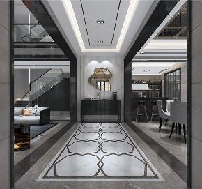 别墅装修 新中式风格 腾龙设计 玄关图片来自周峻在别墅装修新中式风格设计的分享