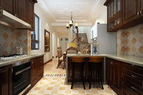 青岛 实创 玫瑰庭院 美式 厨房图片来自实创装饰小彩在玫瑰庭院别墅260平的分享