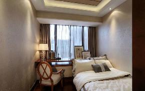 新古典 三居 四居 大户型 跃层 复式 80后 小资 卧室图片来自高度国际姚吉智在172平米新古典主义优雅浪漫的分享