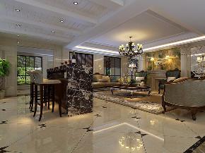 大华诺斐墅 别墅装修 欧美古典 腾龙设计 客厅图片来自周峻在大华诺斐墅 欧美古典风格设计的分享