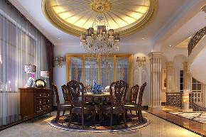 高尔夫别墅 别墅装修 欧式风格 腾龙设计 餐厅图片来自周峻在高尔夫别墅项目装修设计案例的分享