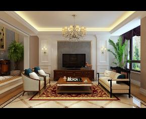 欧式 新古典 别墅 客厅图片来自大业美家 家居装饰在别墅装修设计-欧式新古典的分享
