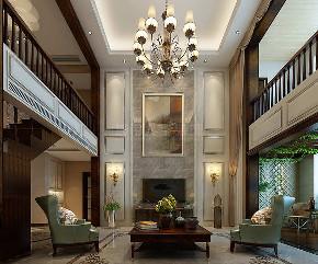 欧式 复式装修 简欧风格 西安装修 装修公司 客厅图片来自西安城市人家装饰王凯在202㎡简欧风格,忘不了奢华优雅的分享