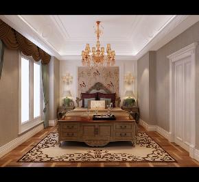 欧式 新古典 别墅 卧室图片来自大业美家 家居装饰在别墅装修设计-欧式新古典的分享