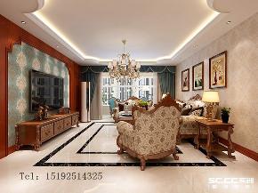 四居 天一 天境 欧式 实创 青岛 客厅图片来自实创装饰小彩在天一仁和天境160平四居室欧式的分享