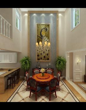 欧式 新古典 别墅 餐厅图片来自大业美家 家居装饰在别墅装修设计-欧式新古典的分享